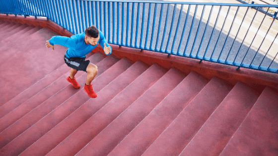 Stair Running For HIIT For Weight Loss